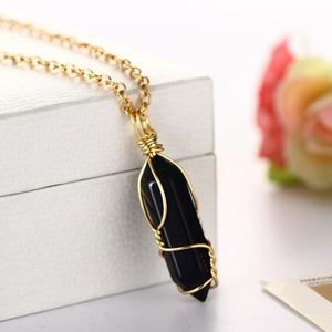 Obsidian Crystal Necklace